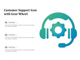 Customer Support Icon With Gear Wheel