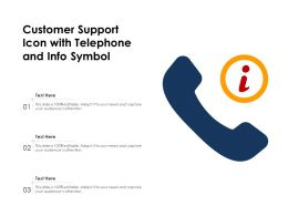 Customer Support Icon With Telephone And Info Symbol