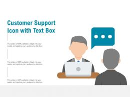 Customer Support Icon With Text Box