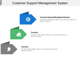 Customer Support Management System Ppt Powerpoint Presentation Slides Visual Aids Cpb