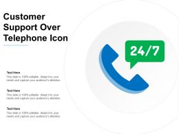 Customer Support Over Telephone Icon