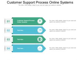 Customer Support Process Online Systems Ppt Powerpoint Presentation Pictures Visuals Cpb