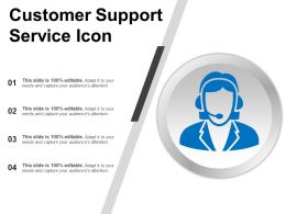Customer Support Service Icon Powerpoint Show