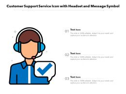 Customer Support Service Icon With Headset And Message Symbol