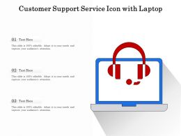 Customer Support Service Icon With Laptop