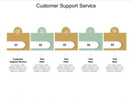 Customer Support Service Ppt Powerpoint Presentation Guidelines Cpb