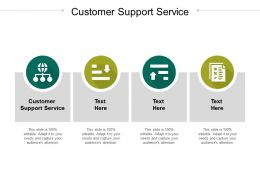 Customer Support Service Ppt Powerpoint Presentation Icon Inspiration Cpb