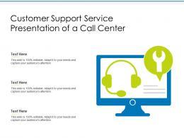 Customer Support Service Presentation Of A Call Centre