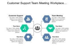 Customer Support Team Meeting Workplace Wellness Management Program Cpb
