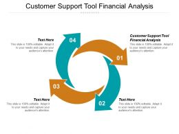 Customer Support Tool Financial Analysis Ppt Powerpoint Presentation Gallery Grid Cpb