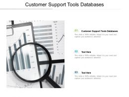 Customer Support Tools Databases Ppt Powerpoint Presentation Outline Themes Cpb