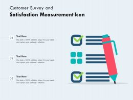 Customer Survey And Satisfaction Measurement Icon