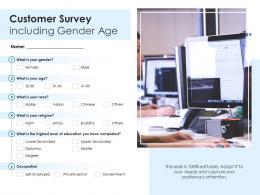 Customer Survey Including Gender Age