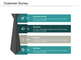Customer Survey Ppt Powerpoint Presentation Infographics Background Cpb
