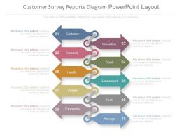 Customer Survey Reports Diagram Powerpoint Layout