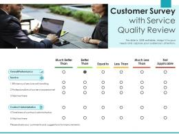 Customer Survey With Service Quality Review