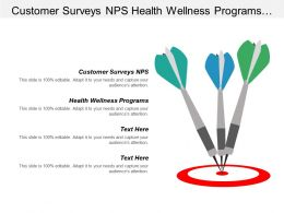 Customer Surveys Nps Health Wellness Programs Mergers Acquisitions Cpb