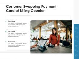 Customer Swapping Payment Card At Billing Counter