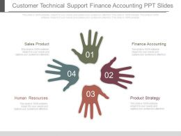 Customer Technical Support Finance Accounting Ppt Slides