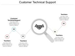 Customer Technical Support Ppt Powerpoint Presentation Model Diagrams Cpb