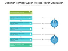 Customer Technical Support Process Flow In Organization