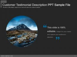 Customer Testimonial Description Ppt Sample File