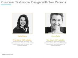 Customer Testimonial Design With Two Persons Powerpoint Slide Show