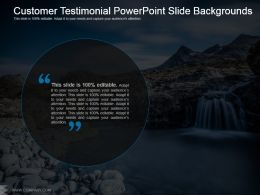 Customer Testimonial Powerpoint Slide Backgrounds