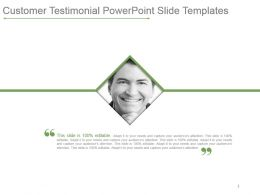 Customer Testimonial Powerpoint Slide Templates