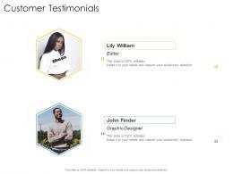Customer Testimonials Company Strategies Promotion Tactics Ppt Powerpoint Presentation File Format