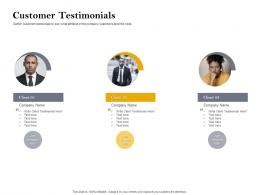 Customer Testimonials Customer Retention And Engagement Planning Ppt Pictures