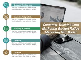 Customer Thinking Icon Marketing Budget Ratios Marketing Roi Model Cpb