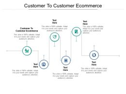 Customer To Customer Ecommerce Ppt Powerpoint Presentation Outline Cpb