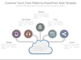 Customer Touch Point Platforms Powerpoint Slide Template
