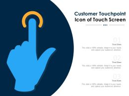 Customer Touchpoint Icon Of Touch Screen