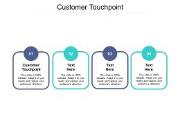 Customer Touchpoint Ppt Powerpoint Presentation Shapes Cpb