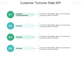 Customer Turnover Rate KPI Ppt Powerpoint Presentation Icon Layouts Cpb