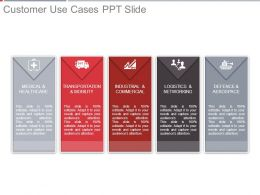 Customer Use Cases Ppt Slide