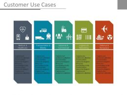 Customer Use Cases Ppt Slides