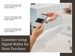 Customer Using Digital Wallet For Store Purchase