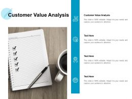 Customer Value Analysis Ppt Powerpoint Presentation Icon Deck Cpb