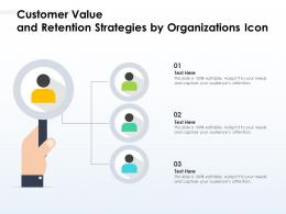 Customer Value And Retention Strategies By Organizations Icon