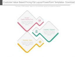 Customer Value Based Pricing Ppt Layout Powerpoint Templates Download