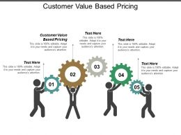 Customer Value Based Pricing Ppt Powerpoint Presentation Layouts Example File Cpb