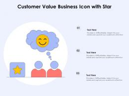 Customer Value Business Icon With Star
