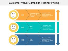 Customer Value Campaign Planner Pricing Ppt Powerpoint Presentation Pictures Slide Portrait Cpb