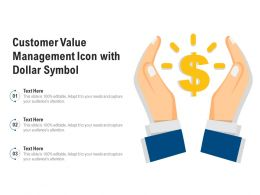 Customer Value Management Icon With Dollar Symbol