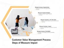 Customer Value Management Process Steps Of Measure Impact
