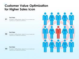 Customer Value Optimization For Higher Sales Icon