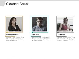 Customer Value Ppt Powerpoint Presentation Infographics Pictures Cpb